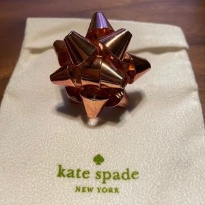 Authentic Kate Spade Bourgeois Bow Ring in Pink
